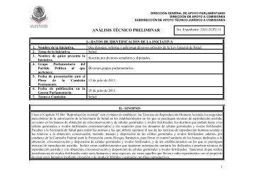 ANÁLISIS TÉCNICO PRELIMINAR - Diputados