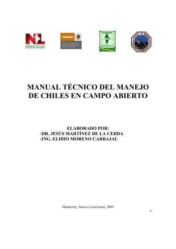 Manual para la Producción de Chiles
