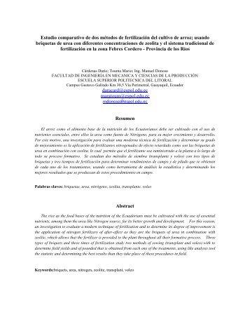 Metodo fertilizacion cultivo de arroz.pdf - DSpace en ESPOL