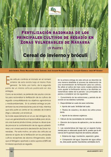 el informe (pdf) - Navarra Agraria