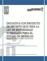 iniciativa con proyecto de decreto que crea la ley de maternidad ...