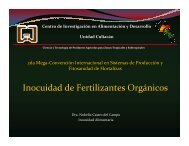 Inocuidad de Fertilizantes Orgánicos Inocuidad de ... - cesavesin