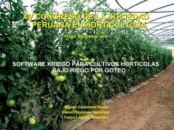 aplicaciones a cultivos bajo riego por goteo