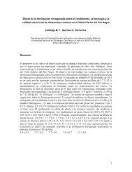 1 Efecto de la fertilización nitrogenada sobre el rendimiento, la ...