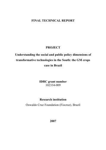final technical report - idrc 102334-009 - Museu da Vida - Fiocruz