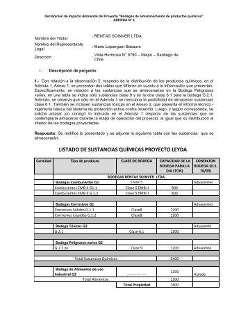 Adenda - SEA - Servicio de evaluación ambiental
