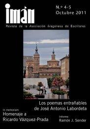 Revista IMAN (4-5) 2011 - Asociacion Aragonesa de Escritores