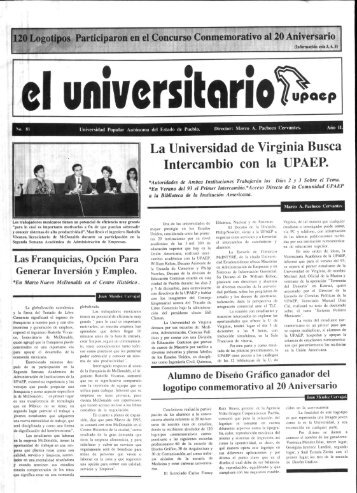 La Universidad de Virginia Busca Intercambio con la UPAEP.