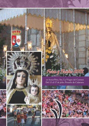 Programa de Fiestas 2012 - Ayuntamiento de Pozuelo de Calatrava