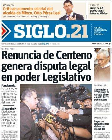 Critican aumento salarial del alcalde de Mixco, Otto Pérez ... - Siglo 21