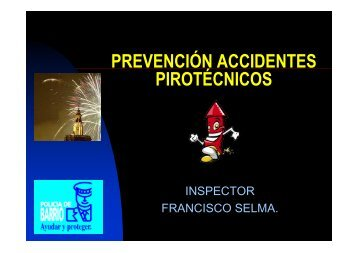 PREVENCIÓN ACCIDENTES PIROTÉCNICOS - Catarroja