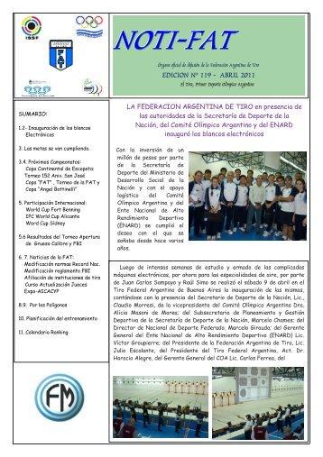EDICION Nº 119 - ABRIL 2011 - Federación Argentina de Tiro