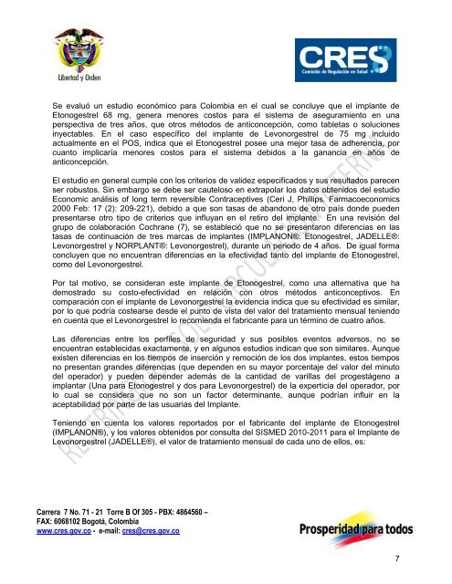 precio del implante anticonceptivo en colombia