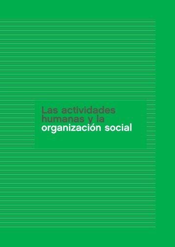 Las actividades humanas y la organización social - Aprender en casa