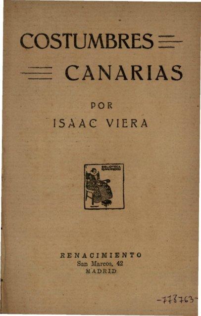 Costumbres Canarias Memoria Digital De Lanzarote