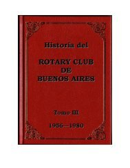 Homenaje - Rotary Club Buenos Aires