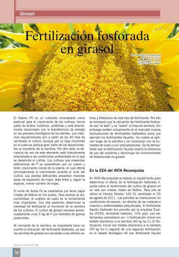 Fertilización fosforada - INTA