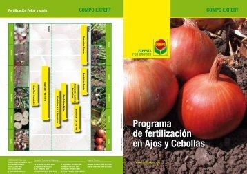 Programa de fertilización en Ajos y Cebollas - COMPO EXPERT