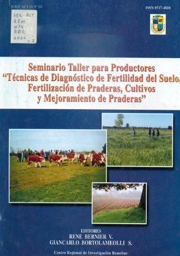 Tecnicas de diagnostico de fertilidad del suelo, fertilizacion de ... - Inia