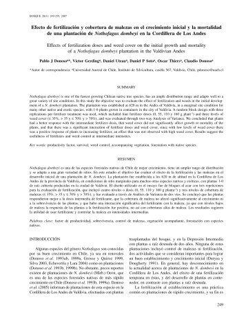 Efecto de fertilización y cobertura de malezas en el ... - SciELO