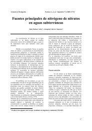 Fuentes principales de nitrógeno de nitratos en aguas subterráneas
