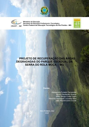 projeto de recuperação das áreas degradadas do parque estadual ...