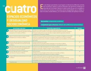 ESPACIOS ECONÓMICOS Y DESIGUALDAD ... - Secundaria SM