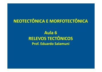 relevos tectônicos - Geologia Ufpr
