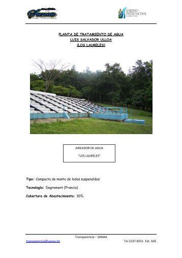 Planta de Tratamiento de Agua Luis Salvador Ulloa - SANAA