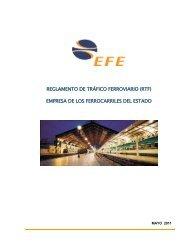 Reglamento de Tráfico Ferroviario - EFE