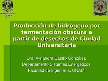 Producción de hidrógeno por fermentación obscura a partir ... - C.I.E.