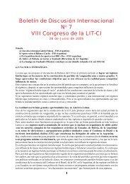 Boletín de Discusión Internacional VIII ... - PHL © Elysio - LIT