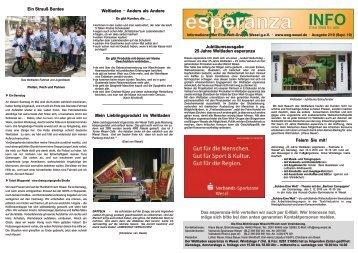 Esperanza Info Ausgabe 2/2010 - Eine-Welt-Gruppe Wesel geV