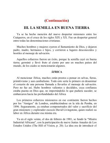 (Continuación) III. LA SEMILLA EN BUENA TIERRA - Instituto ALMA