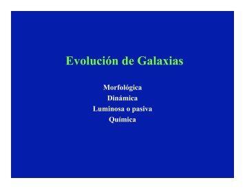 Evolución de Galaxias