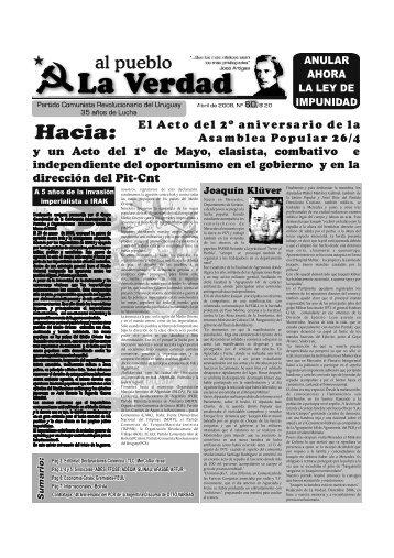 al pueblo - Partido Comunista Revolucionario del Uruguay