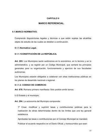 Capítulo II. Marco referencial - Universidad de Oriente
