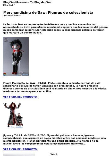 Merchandising De Saw Figuras De Coleccionista