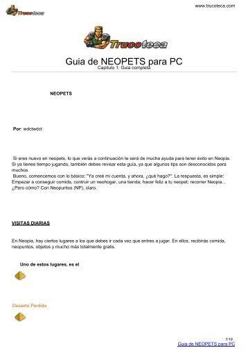 Guia de NEOPETS para PC - Trucoteca.com