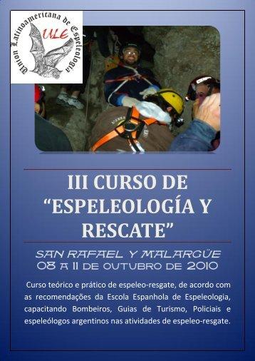 """III CURSO DE """"ESPELEOLOGÍA Y RESCATE"""""""