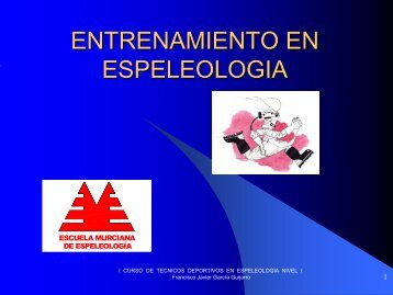 Plan de entrenamiento - Grupo Espeleológico de Lorca