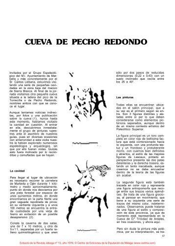 CUEVA DE PECHO REDONDO - Cedma