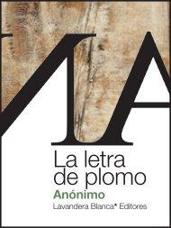 PDF pantalla 6 plg. - Lavandera Blanca* Editores
