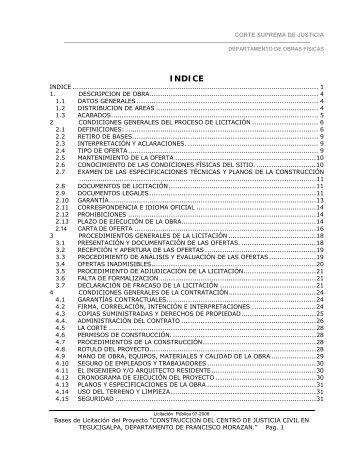 CORTE SUPREMA DE JUSTICIA - HonduCompras