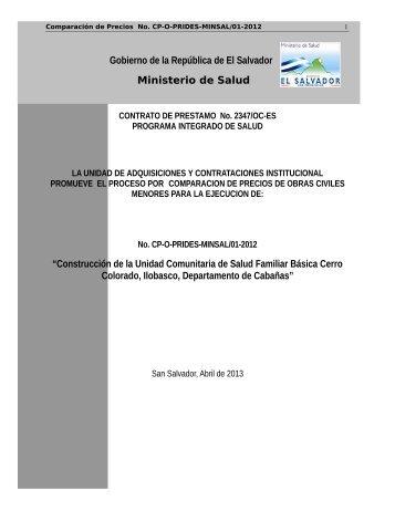 cp-o-prides-minsal/01-2012 - Ministerio de Salud