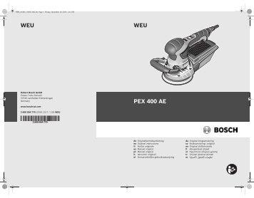 WEU WEU PEX 400 AE - Bosch Elektrowerkzeuge für Heimwerker