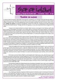 revista sororidad. mujeres y teologia de ciudad real. noviembre 2012