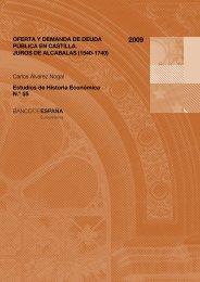 Oferta y demanda de deuda pública en Castilla : Juros ... - E-Archivo