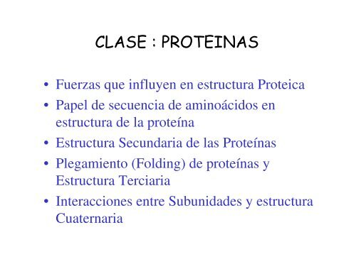 Clase Proteinas Upch