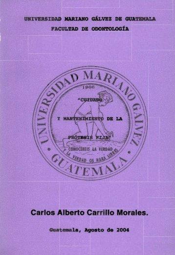 Carlos Alberto Carrillo Morales. - Universidad Mariano Gálvez